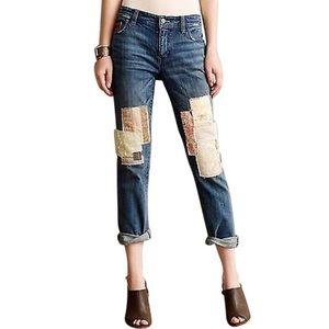 Pilcro & the Letterpress Hyphen Patchwork Jeans 28